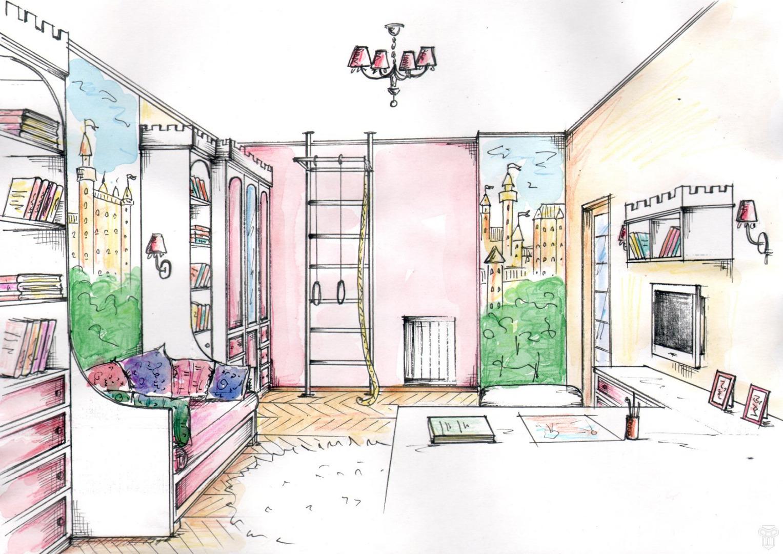 рисунок про квартиру без